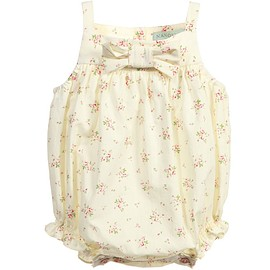 Nanos - Baby Girls Pale Yellow Floral Print Shortie