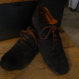 Paul Harnden - Navy Suede Shoes