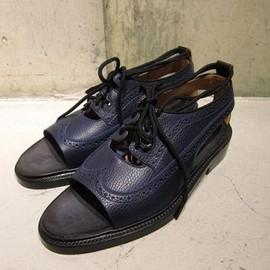 SUNSEA - Cut off wing tip shoes