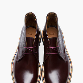Paul Smith - Pebbled Hi-Shine Mahogany Chukka by Paul Smith 3