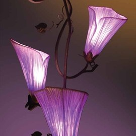 Purple Flower Ceiling Lamps