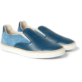 Maison Martin Margiela - Panelled Leather and Suede Slip-On Sneakers