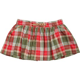 Mayoral - Cotton Check Skirt