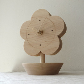 flower stool|white ash small
