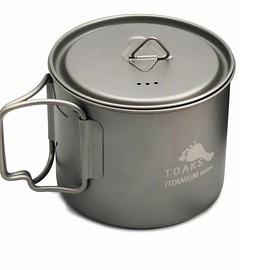 TOAKS - LIGHT TITANIUM 550ML POT (ULTRALIGHT VERSION)