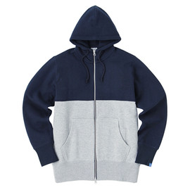 LOOPWHEELER - LW Light Two-tone High-neck Hoodie