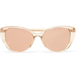 Linda Farrow - Cat-eye acetate mirrored sunglasses