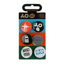 "CHEAP MONDAY, Teenage Engineering - ""Pocket Operator"" 6 Badge Set"
