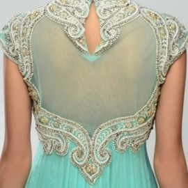 Tiffany Blue Anarkali Suit