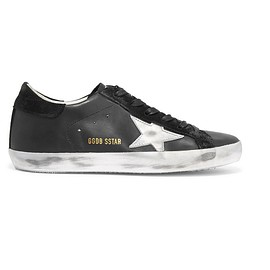 Golden Goose Deluxe Brand - Super Star distressed leather and suede sneakers