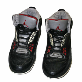 Air Jordan - 2008 Air Jordan Black Cement 3 Shoes Mens Size 9.5