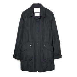 WHITE MOUNTAINEERING - POLYESTER TWILL SHADOW CHECK FLIGHT COAT