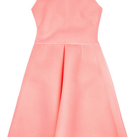 SIMONE ROCHA - Knitted Wafer Mesh Pleat Dress In Pink