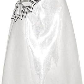 Christopher Kane - Metallic PVC midi skirt
