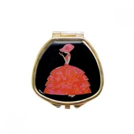 Andrea Garland - LIP BALM with MIRROR-Crinoline Lady-RED
