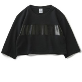 TOGA ODDS&ENDS - Rubber Sweat Tops (black)