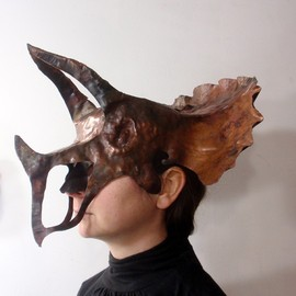VagabondMetal - Triceratops - Forged Copper Mask