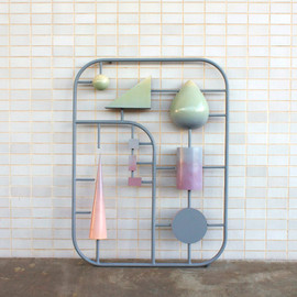Kristin Walsh - plastic components of modernism, 2012, welded steel frame with fiberglass elements