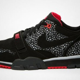 Nike - NIKE AIR TRAINER 1 LOW ST BLACK/BLACK-WOLF GREY-LASER CRIMSON