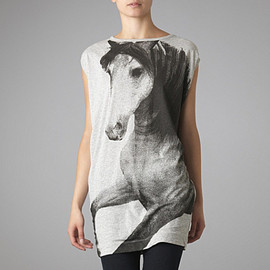 STELLA MCCARTNEY  - STELLA MCCARTNEY Horse print t–shirt dress