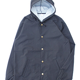 "Independent Trading - ""Water Resident Hooded Coache Jacket"" Black"