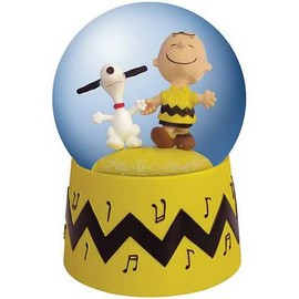 Peanuts Snoopy and Charlie Brown Animated Water Globe