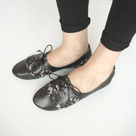 elehandmade - The Sofia Oxfords in Lace - Cute Handmade Leather Oxford Shoes