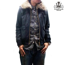 WORKING CLASS HEROES - LEATHER BOMBER JKT