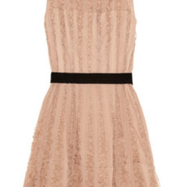 REDValentino - Ruffled silk-screpe and organza dress