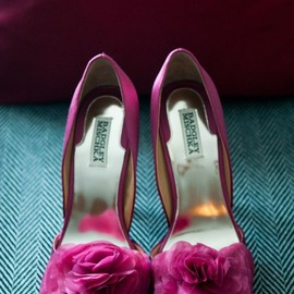 badgley mischka - pink/heels.