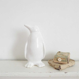 Vintage Ceramic White Penguin Figurine - Penguin Ornament, Collectible