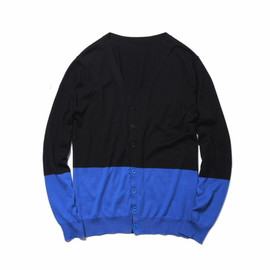 uniform experiment - 2 tone knit cardigan