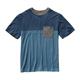 patagonia - Boys' Polarized Colorblock Tee - Skipper Blue