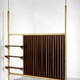 Jean Prouve & Charlotte Perriand - Partition wall with shelves