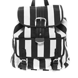 ASOS - ASOS Backpack Bag In Mono Stripe