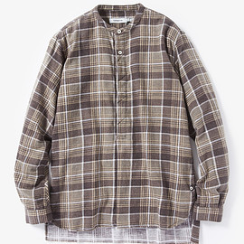 nonnative - FARMER PULLOVER SHIRT COTTON FLANNEL PRINT CHECK VW
