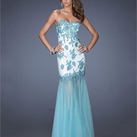 Mermaid Sweetheart Lace Tulle Prom Dress PD2675