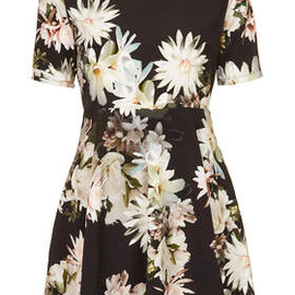 TOPSHOP - **Printed High Neck Skater Dress by Oh My Love