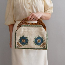 vintage 1960s GREEK ISLE needlepoint bag