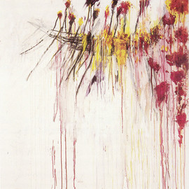 Cy Twombly - Coronation of Sesostris, PANEL 5, 2000, acrylic, crayon, and pencil on canvas