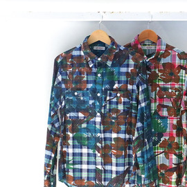 HOLLYWOOD RANCH MARKET - BIGFLOWER CHECK SHIRT