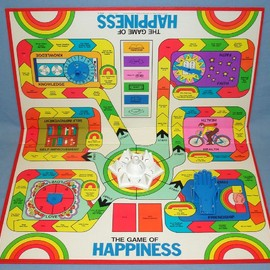 MILTON BRADLEY - THE GAME OF HAPPINESS 4200 PLAYING BOARD