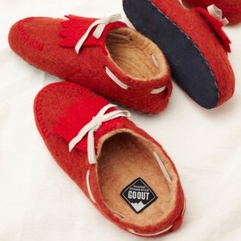 ficouture×GO OUT - Felt Mocassin Room Shoe