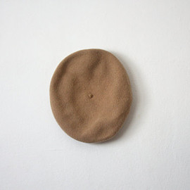 vintage honey brown beret