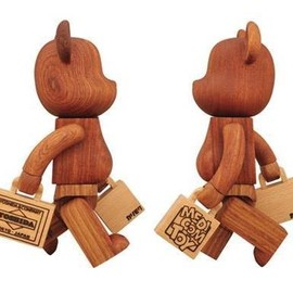 Porter x Medicom Toy - Limited Edition Wooden Bearbrick