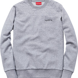 Supreme - Quilted Panel Crewneck