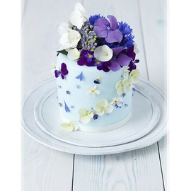 Mini Blue Cake With Blue Flowers