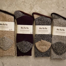 RoToTo - Mixed woolen 4×1 rib socks