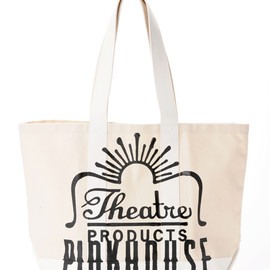 PINK HOUSE x THEATRE PRODUCTS - Pink House x Theatre Products totebag - white