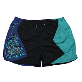 Nike - Vintage 90s Nike Black/Teal/Blue Swim Trunks Mens Size Large